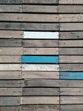 Tło naturalny kolor i malujący kolor na drewnianym moscie i ścianie Zdjęcia Stock