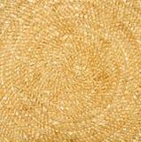 Tło Naturalny słomiany kolor żółty struktura Fotografia Royalty Free
