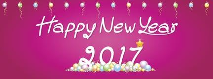 Tło nowego roku Szczęśliwi powitania Zdjęcie Royalty Free