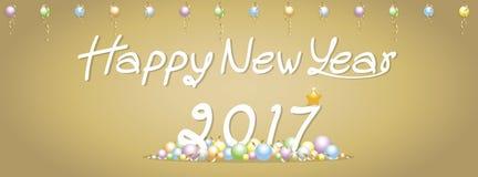 Tło nowego roku Szczęśliwi powitania Obraz Royalty Free