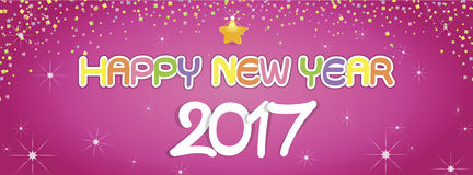 Tło nowego roku Szczęśliwi powitania Obrazy Royalty Free