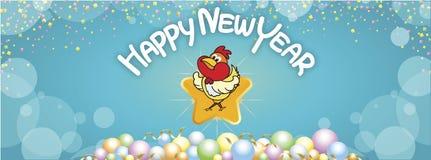 Tło nowego roku Szczęśliwi powitania Obrazy Stock