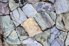 Tło nowożytna kamienna ceglana tekstura, abstrakcjonistyczna piaska lub granitu ściana Zdjęcia Royalty Free