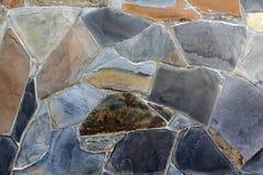 Tło nowożytna kamienna ceglana tekstura, abstrakcjonistyczna piaska lub granitu ściana Fotografia Royalty Free