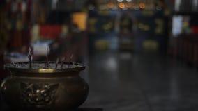 Tło o buddhism, puchar z kadzidłem zdjęcie wideo