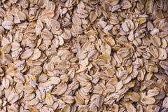 Tło oatmeal Rozrzuceni staczający się owsy z bliska obrazy royalty free