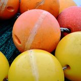 Tło obrazek Barwione Spławowe piłki zdjęcie stock