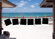 Tło obrazki na plaży Fotografia Royalty Free