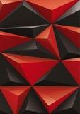 Tło od czerwonego i czarnego ostrosłupa, odgórny widok Ty utrzymuje 3d formę możesz zmieniać kolor ilustracja wektor