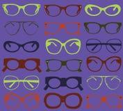 Tło od kolorowych okularów przeciwsłoneczne. ilustracji