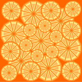 Tło od plasterków pomarańcze w 3D Fotografia Royalty Free