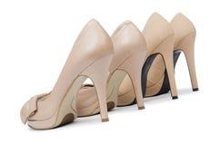 tło odizolowane buty białą kobietę Zdjęcia Stock