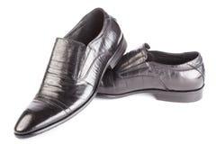 tło odizolowywał rzemiennych mężczyzna przedmiotów cieni buty biały Fotografia Stock