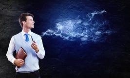 tło odizolowywający fajczany dymienia biel Obraz Royalty Free