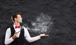 tło odizolowywający fajczany dymienia biel Obraz Stock
