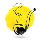 tło odizolowywający fajczany dymienia biel Zdjęcia Royalty Free