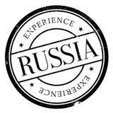 tło odizolowywający gumowy Russia stemplowy biel Obraz Stock