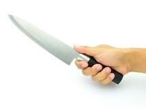 tło odizolowywający kuchennego noża światła przedmiot cieni pracownianego biel Zdjęcia Stock
