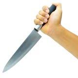 tło odizolowywający kuchennego noża światła przedmiot cieni pracownianego biel Obrazy Stock