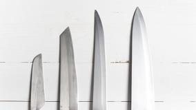 tło odizolowywający kuchennego noża światła przedmiot cieni pracownianego biel Zdjęcie Royalty Free