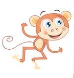 tło odizolowywający małpi biel ilustracja wektor