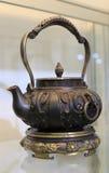 tło odizolowywający metalu przedmiota teapot biel Zdjęcia Stock