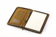 tło odizolowywający notatnika pióra biel Zdjęcia Stock