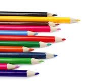 tło odizolowywający ołówkowy biel Obrazy Royalty Free