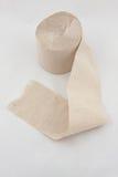 tło odizolowywający papierowej rolki toaletowy biel Obrazy Royalty Free