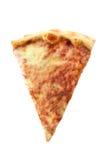 tło odizolowywający pizzy plasterka biel Obrazy Royalty Free