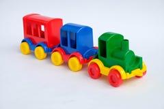 tło odizolowywający zabawki pociągu biel zdjęcia royalty free