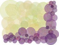 tło okręgu purpurowych kwiatek ilustracyjny Zdjęcia Stock