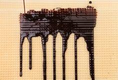 Tło opłatek Strumień czekolada Zdjęcia Royalty Free