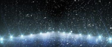 Tło Opróżnia lodowego stadium z światłami kosmos kopii panorama obraz royalty free