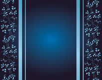 tło ornamenty błękitny kwieciści Fotografia Stock