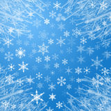 tło płatek śniegu Zdjęcia Royalty Free