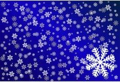 tło płatek śniegu Obraz Royalty Free