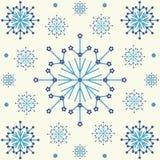 tło płatek śniegu deseniowi bezszwowi Obrazy Stock