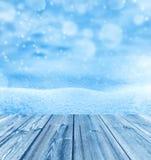 tło płatków śniegu biały niebieska zima Zdjęcia Royalty Free