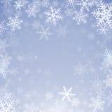 tło płatków śniegu biały niebieska zima Fotografia Stock