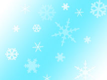 tło płatków śniegu biały niebieska zima Zdjęcie Stock
