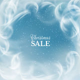 tło płatków śniegu biały niebieska zima EPS10 Zdjęcie Royalty Free