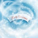 tło płatków śniegu biały niebieska zima EPS10 Zdjęcia Royalty Free