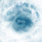 tło płatków śniegu biały niebieska zima EPS10 Obraz Royalty Free