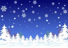 tło płatki śniegu Obraz Royalty Free