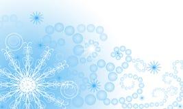 tło płatki śniegu Zdjęcia Royalty Free