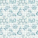 tło płytka chemiczna niekończący się deseniowa bezszwowa Wektorowy tło royalty ilustracja