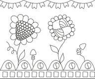 tło piękni kwiaty biali Ilustracja Wektor