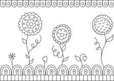 tło piękni kwiaty biali Ilustracji
