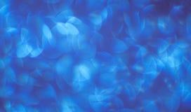 Tło piękny błękit z białym bokeh tła i abstrakcje obraz stock